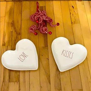 Rae Dunn Love & Kisses plates